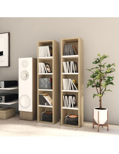 Spintelės kompaktiniam diskam, 2vnt., ąžuolo, 21x16x93,5cm, MDP   Multimedijos spintelės ir laikikliai   duodu.lt
