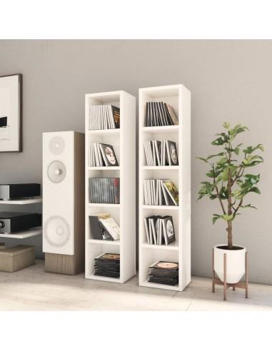 Spintelės kompaktiniam diskam, 2vnt., baltos, 21x16x93,5cm, MDP | Multimedijos spintelės ir laikikliai | duodu.lt