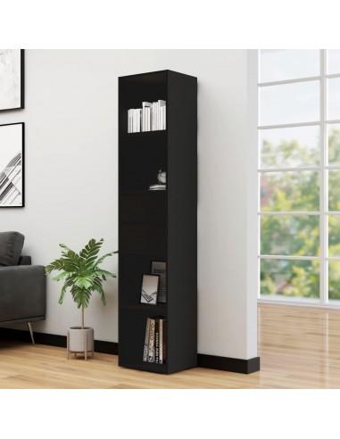 Spintelė knygoms, juodos spalvos, 36x30x171cm, MDP | Knygų Spintos ir Pastatomos Lentynos | duodu.lt