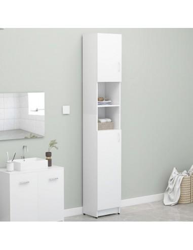 Vonios kambario spintelė, balta, 32x25,5x190cm, MDP    Skalbyklių ir džiovyklių priedai   duodu.lt
