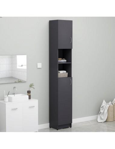Vonios kambario spintelė, pilka, 32x25,5x190cm, MDP    Skalbyklių ir džiovyklių priedai   duodu.lt
