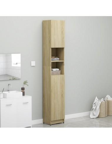 Vonios kambario spintelė, sonoma ąžuolo spalva, 32x25,5x190cm, fanera  | Skalbyklių ir džiovyklių priedai | duodu.lt