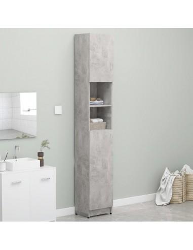 Vonios kambario spintelė, pilka, 32x25,5x190cm, fanera    Skalbyklių ir džiovyklių priedai   duodu.lt