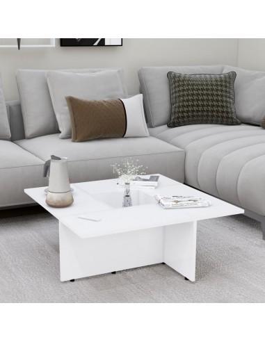 Kavos staliukas, baltos spalvos, 79,5x79,5x30cm, MDP   Kavos Staliukai   duodu.lt