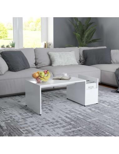 Kavos staliukas, baltos spalvos, 90x45x35cm, MDP | Kavos Staliukai | duodu.lt