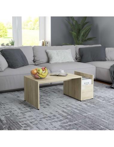 Kavos staliukas, sonoma ąžuolo spalvos, 90x45x35cm, MDP | Kavos Staliukai | duodu.lt