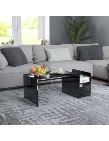 Kavos staliukas, juodos spalvos, 90x45x35cm, MDP, ypač blizgus   Kavos Staliukai   duodu.lt