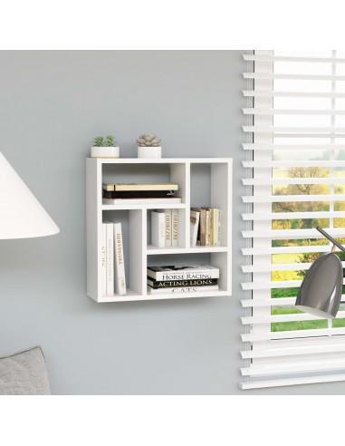 Sieninė lentyna, baltos spalvos, 45,1x16x45,1cm, MDP | Sieninės lentynos ir atbrailos | duodu.lt