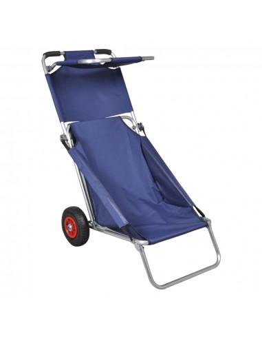 Paplūdimio vežimėlis su ratukais, nešiojam., sulankst., mėlyn. | Virtuvinės Salos ir Staliukai ant Ratukų | duodu.lt