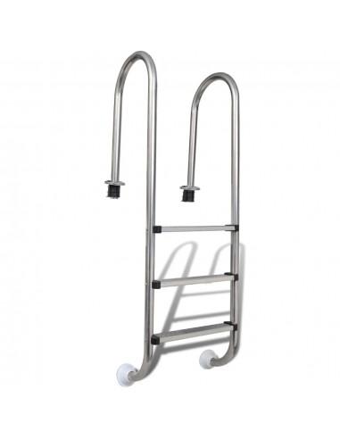 Baseino kopėtėlės, 3 pakopų, nerūdijantis plienas, 120cm  | Baseinų Kopėčios, Laipteliai ir Rampos | duodu.lt