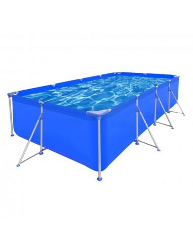 Stačiakampis Antžeminis Baseinas Plieniniu Rėmu 394 x 207 x 80 cm | Plaukimo Baseinai | duodu.lt