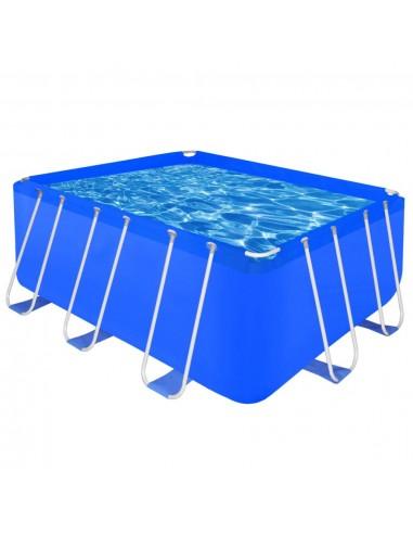 Stačiakampis Antžeminis Baseinas Plieniniu Rėmu 400 x 207 x 122 cm   Plaukimo Baseinai   duodu.lt