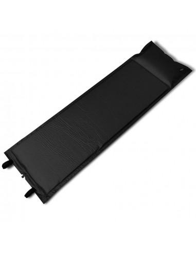 Juodas Prisipučiantis Miegojimo Kilimėlis 185 x 55 x 3cm (Vienvietis)   Miegojimo kilimėliai   duodu.lt