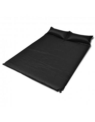 Juodas Prisipučiantis Miegojimo Kilimėlis 190 x 130 x 5 cm (Dvivietis)   Miegojimo kilimėliai   duodu.lt