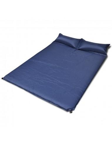 Mėlynas Prisipučiantis Miegojimo Kilimėlis 190 x 130 x 5cm (Dvivietis)   Miegojimo kilimėliai   duodu.lt
