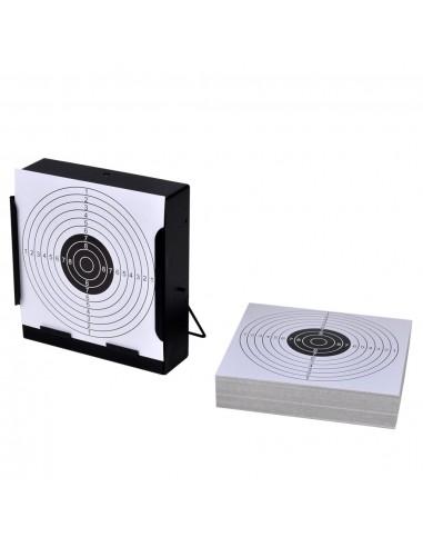 14 cm Taikinių Laikiklis, Šratų Gaudyklė + 100 Popierinių Taikinių | Šaudymo taikiniai | duodu.lt