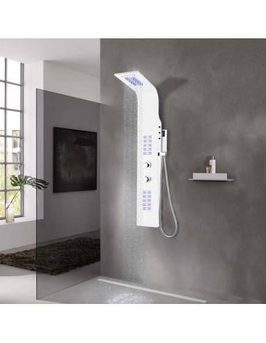 Dušo panelė, aliuminis, 20x44x130cm, balta | Vonių ir dušų sistemos | duodu.lt
