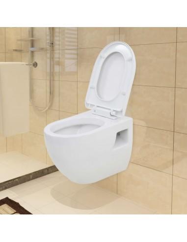 Pakabinamas tualetas, keramika, baltas  | Klozetai | duodu.lt