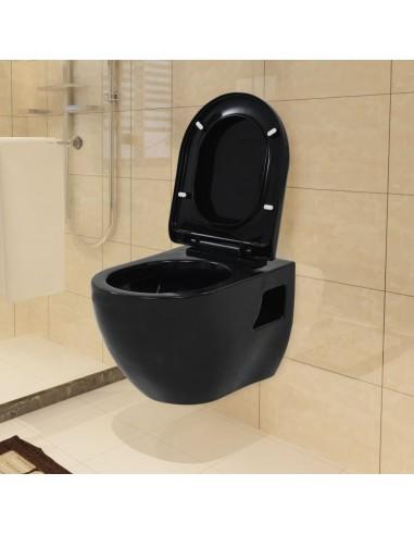 Pakabinamas keramikinis tualetas, juodas | Klozetai | duodu.lt