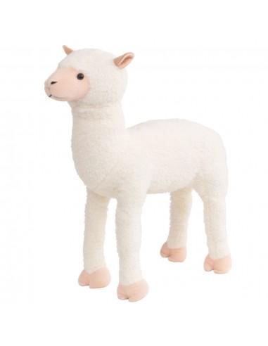 Stovintis pliušinis žaislas alpaka, baltos sp., XXL | Pliušiniai gyvūnai | duodu.lt