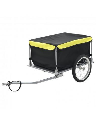 Krovininė priekaba dviračiui, juodos ir geltonos spalvos, 65 kg   Dviračių Priekabos   duodu.lt