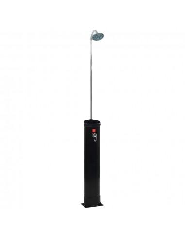 Saulės energija šildomas dušas, juodas, 214 cm, 18 l | SPA ir Baseinų Aksesuarai | duodu.lt