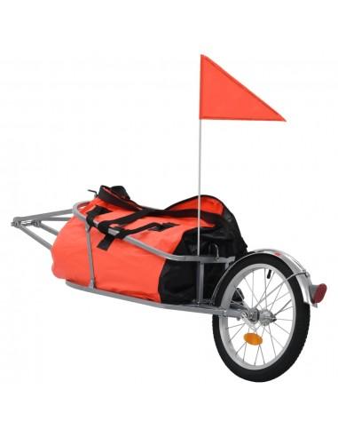 Dviračio priekaba su krepšiu, oranžinės ir juodos spalvos   Dviračių Priekabos   duodu.lt