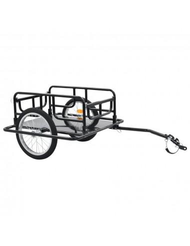 Krovininė dviračio priekaba, juoda, 130x73x48,5cm, plienas | Dviračių Priekabos | duodu.lt