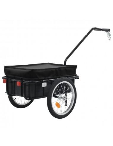 Krov. priekaba dviračiui/rank. vež., juodas, 155x61x83, plienas   Dviračių Priekabos   duodu.lt