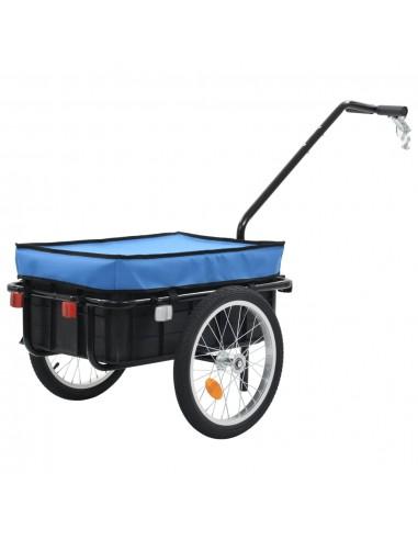 Krov. priekaba dviračiui/rank. vež., mėlynas, 155x61x83, plien. | Dviračių Priekabos | duodu.lt