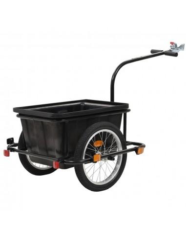 Krovininė dviračio priekaba, juoda, 50 l   Dviračių Priekabos   duodu.lt