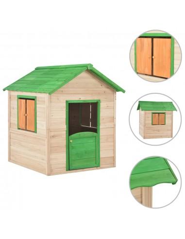 Vaikų žaidimų namelis, žalias, eglės mediena   Žaidimų Nameliai   duodu.lt