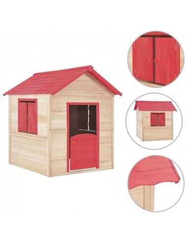 Vaikų žaidimų namelis, raudonas, eglės mediena   Žaidimų Nameliai   duodu.lt