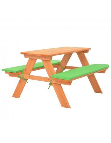 Iškylos stalas vaikams su suol., 89x79x50cm, eglės med. mas. | Lauko Baldų Komplektai | duodu.lt