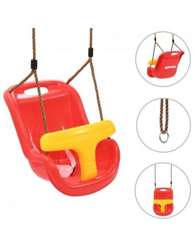 Sūpynės kūdikiams su saugos diržu, raudonos spalvos, PP | Kūdikių šokliukai ir sūpynės | duodu.lt