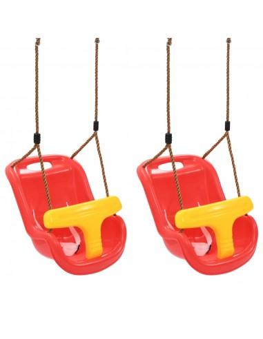 Sūpynės kūdikiams su saugos diržais, 2vnt., raudonos, PP   Kūdikių šokliukai ir sūpynės   duodu.lt
