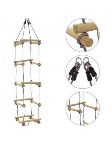 Virvinės kopėčios vaikams, 200 cm, mediena  | Aktyvumo žaislai kūdikiams | duodu.lt