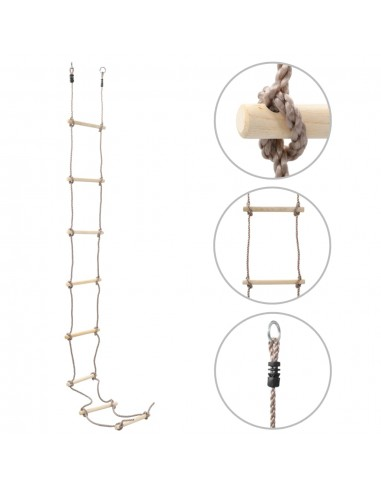 Virvinės kopėčios vaikams, 290cm, mediena   Aktyvumo žaislai kūdikiams   duodu.lt