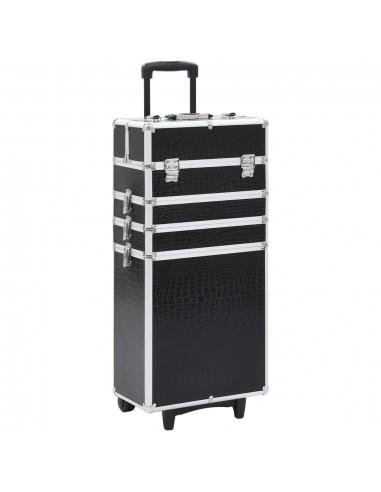 Kosmetikos lagaminas, juodas, aliuminis, su krokodilo raštu   Kosmetinės   duodu.lt