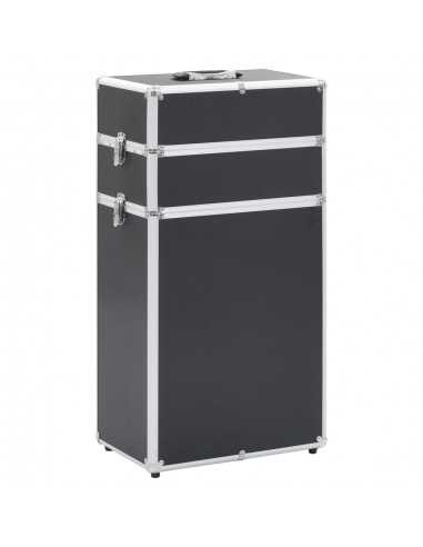 Kosmetikos lagaminas su ratukais, juodos spalvos, aliuminis   Kosmetinės   duodu.lt