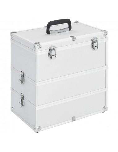 Lagaminas kosmetikos priemonėms, sidabr., 37x24x40cm, aliuminis | Kosmetinės | duodu.lt