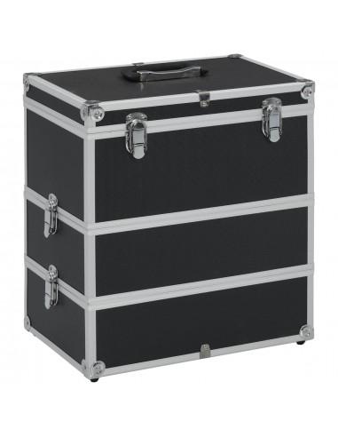 Lagaminas kosmetikos priemonėms, juodas, 37x24x40cm, aliuminis   Kosmetinės   duodu.lt