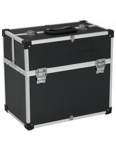 Įrankių lagaminas, juodos spalvos, 43,5x22,5x34cm, aliuminis   Įrankių Dėžės   duodu.lt