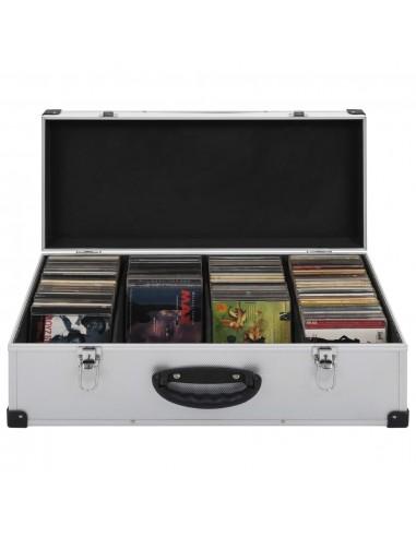 Kompaktinių diskų dėklas 80 diskų, sidbr. sp., aliuminis, ABS   DVD dėklai   duodu.lt