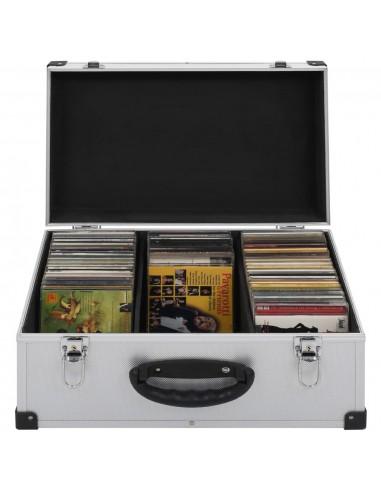 Kompaktinių diskų dėklas 60 diskų, sidbr. sp., aliuminis, ABS | DVD dėklai | duodu.lt