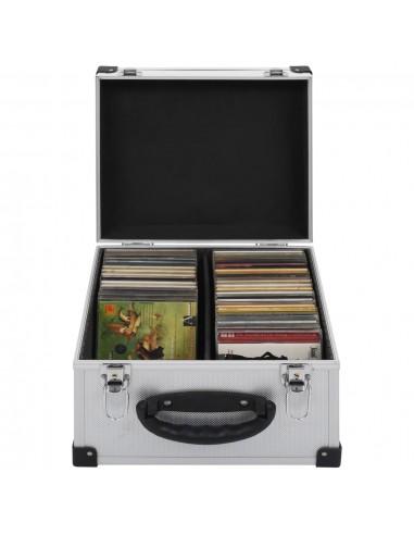 Kompaktinių diskų dėklas 40 diskų, sidbr. sp., aliuminis, ABS | DVD dėklai | duodu.lt