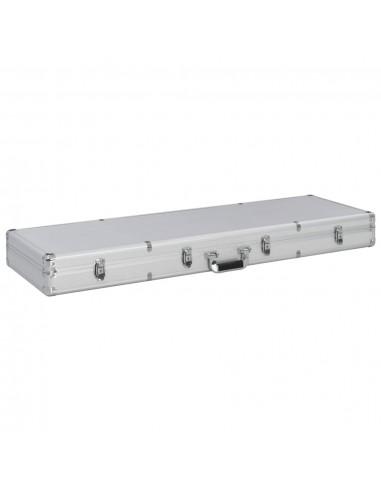 Ginklo dėklas, sidbr. sp., 118x38x12cm, aliuminis | Ginklų lagaminai ir krepšiai | duodu.lt