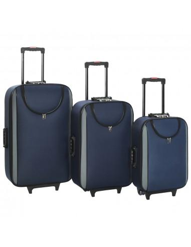 Minkšti lagaminai, 3vnt., tamsiai mėlyni, oksfordo audinys   Lagaminai   duodu.lt