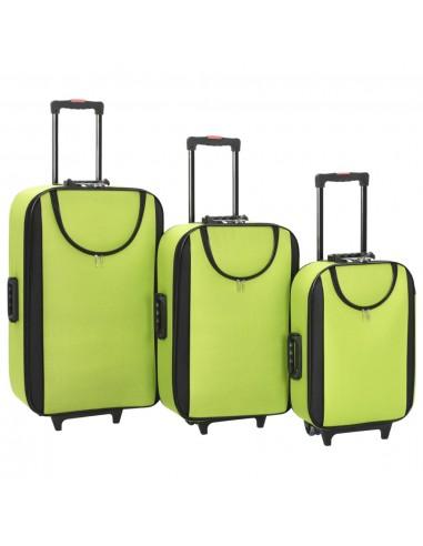 Minkšti lagaminai, 3vnt., žalios spalvos, oksfordo audinys | Lagaminai | duodu.lt