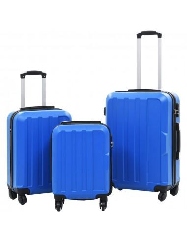 Lagaminų su ratukais rinkinys, 3vnt., mėlynos spalvos, ABS | Lagaminai | duodu.lt